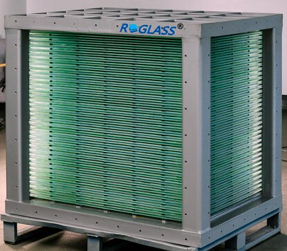 the glass plate type heat exchanger