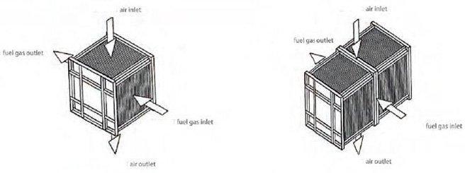 alternative flow type metal plate heat exchanger