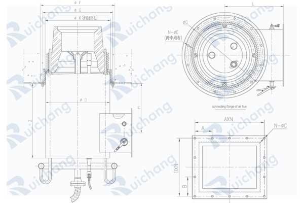 model GCFB-V low NOx burner design