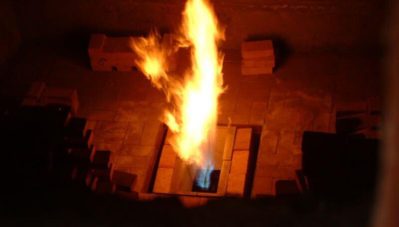 low nox burner flame