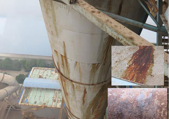 Corrosion on sulfur recovery equipment
